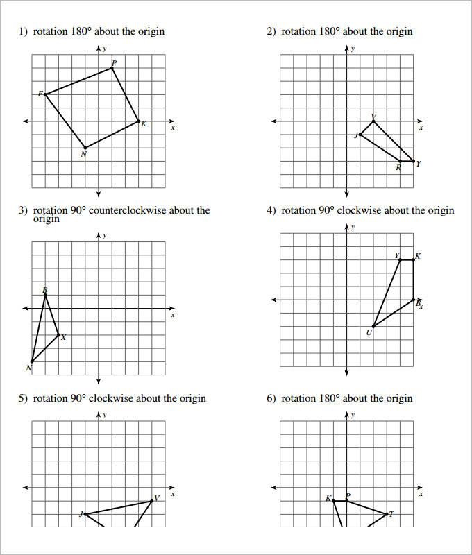 Sample Coordinate Geometry Worksheet Templates : Download ...