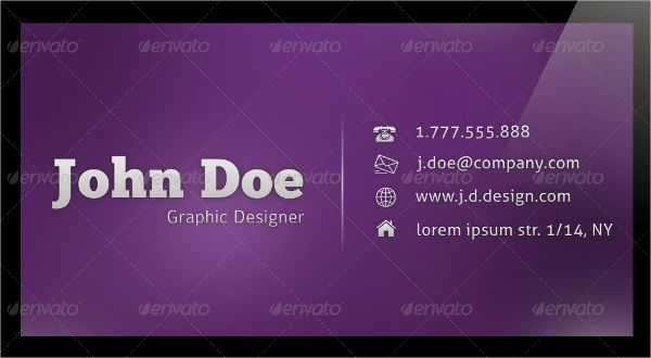 Round Corner Glossy Business Card Template