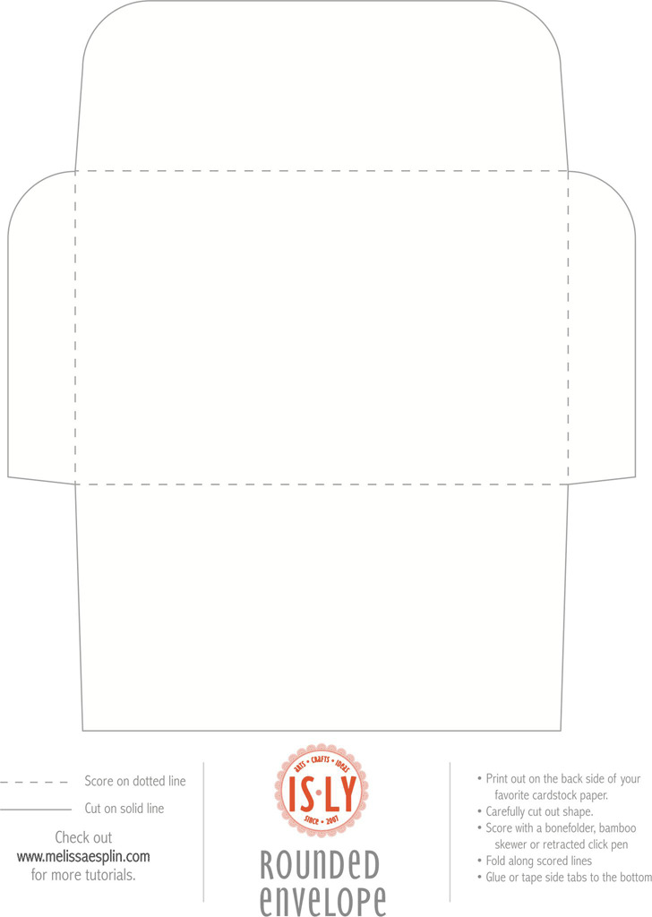 Rounded Envelope Template