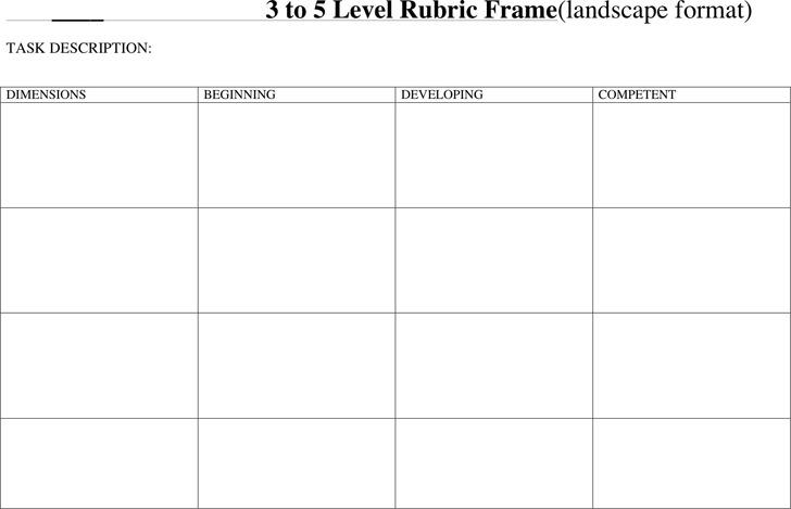 Rubric Template 3