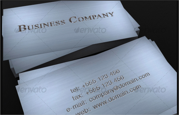 Rusty Metal Business Card
