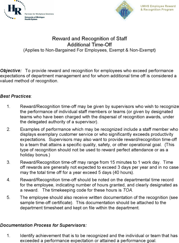 Safety Recognition Certificate Template