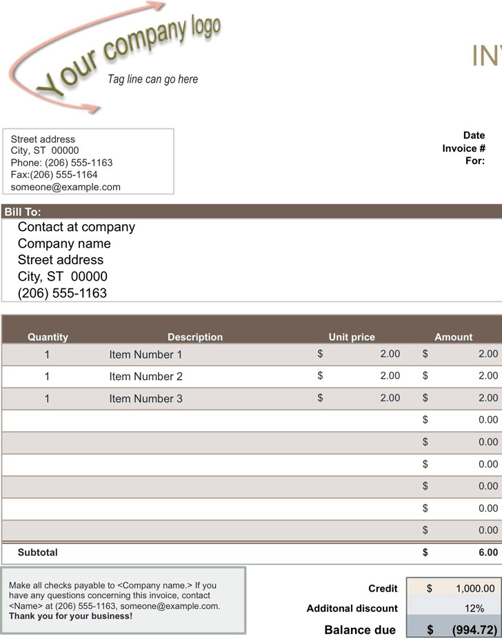 Sales Invoice If YouRe Invoicing For Goods Sold Rather Than