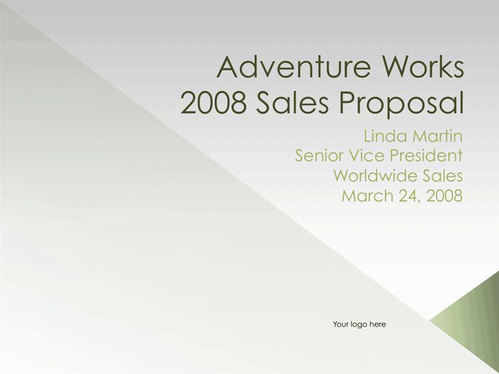 Sales Proposal Template 3