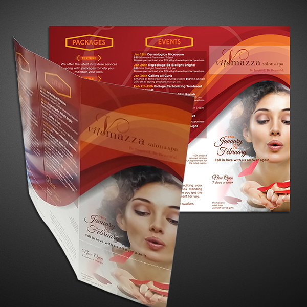 Salon & Spa Valentine Brochure Template