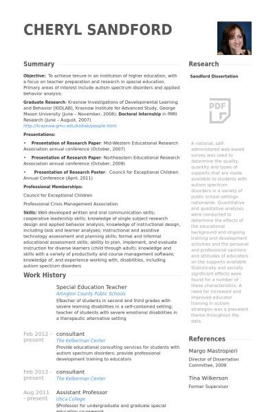 teacher resume template download free premium