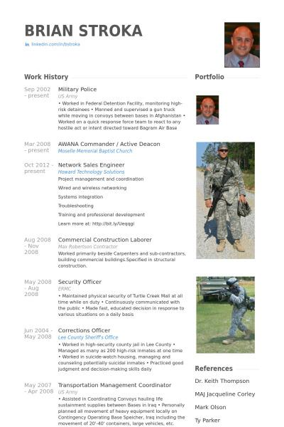 Sample Army Resume Template
