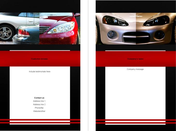 Sample Auto Bi Fold Brochure Template