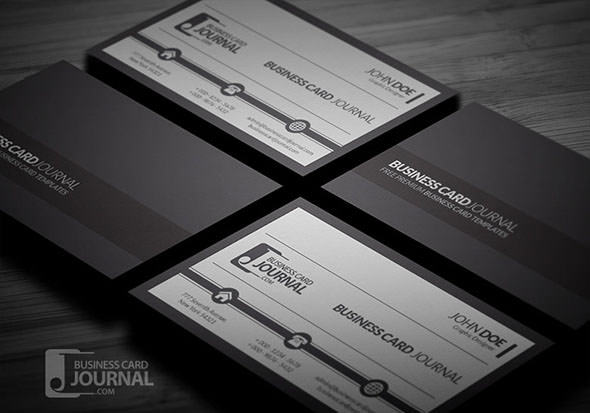 Sample Black and White Corporate Business Card Template