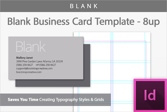 Sample Blank Business Card Template