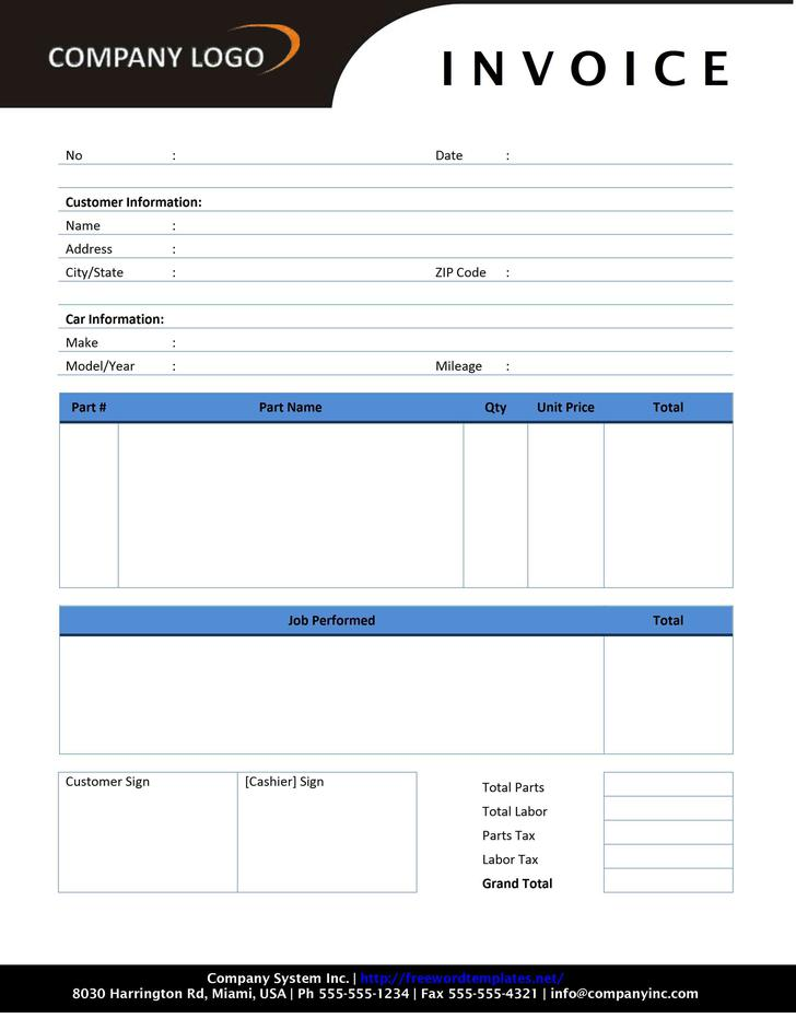 Blank Estimate Template  Download Free  Premium Templates Forms