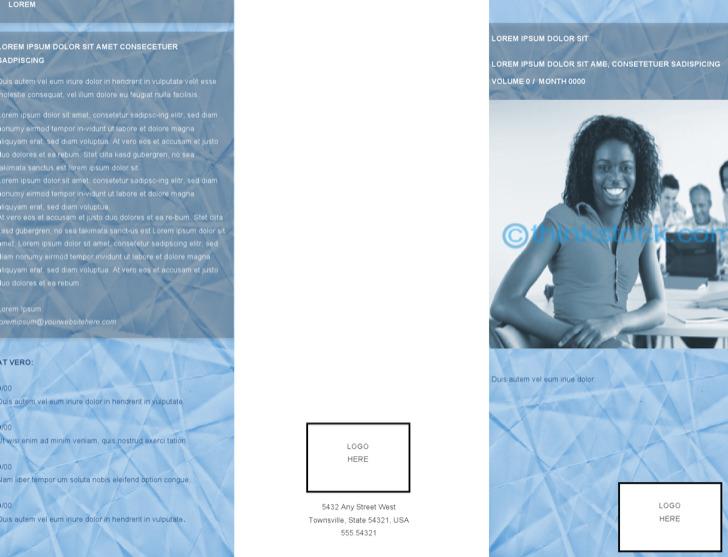 Sample Business Brochure Inside Template