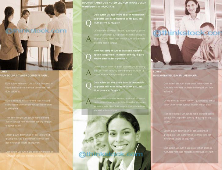 Sample Business Brochure Outside Template
