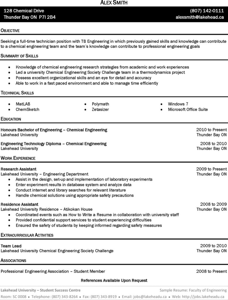 chemical engineer resume templates free