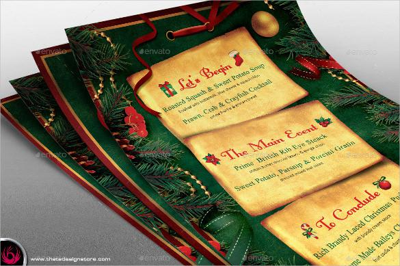 Sample Christmas Menu Template