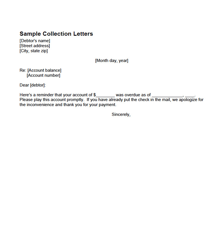 Sample Collection Letters