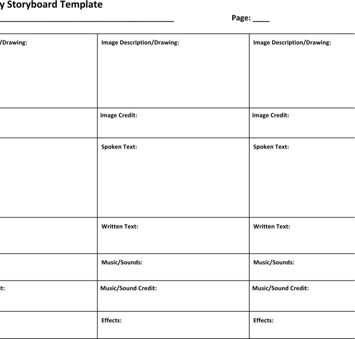Commercial Storyboard Template  Download Free  Premium Templates
