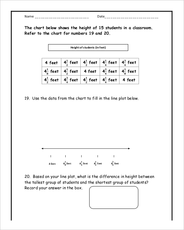 Sample Common Core Math Sheet Download