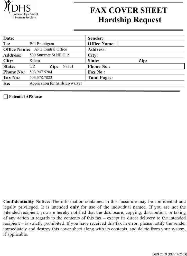 Sample Confidential Fax Template