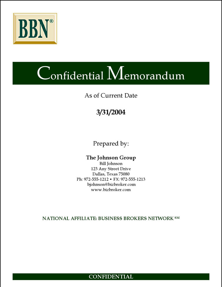 Confidential Memo Template – Confidential Memo Template