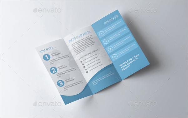 Sample Corporate Tri Fold Brochure Template