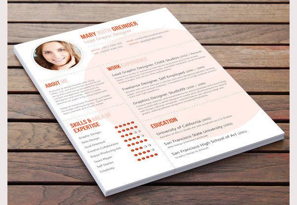 Sample Creative Resume Design