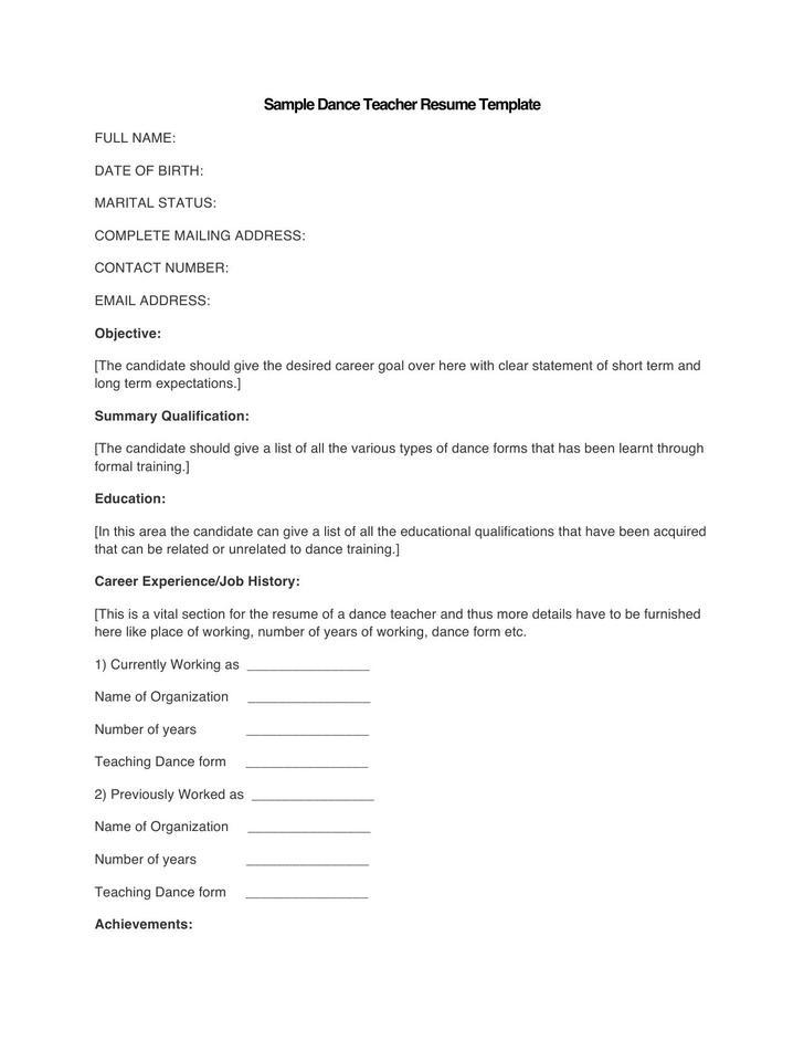 53 Teacher Resume Template Free Download