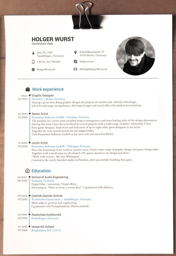 Sample Designer CV Template
