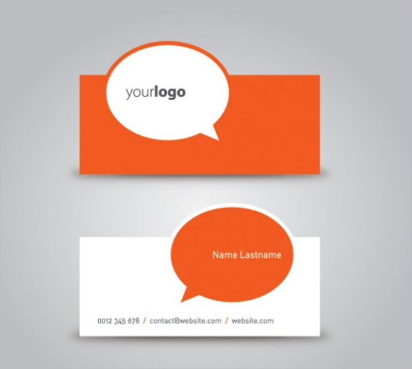 Sample Die Cut Business Card Template