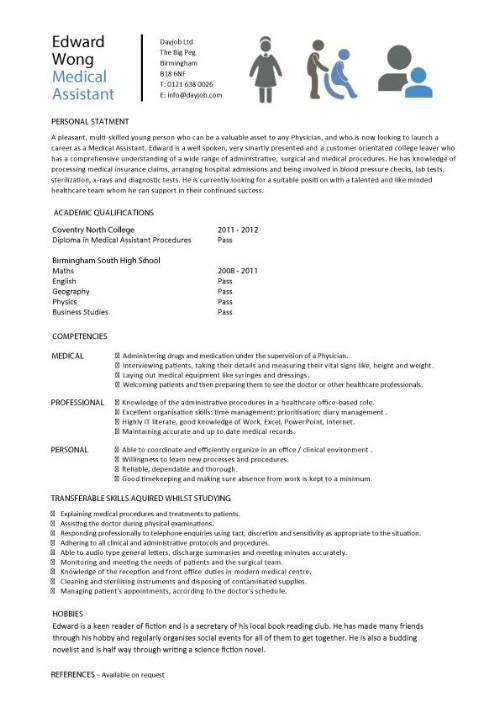 sample doctor resume template