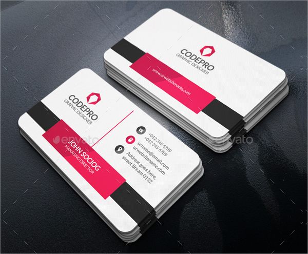 Sample Elegant Business Card Template