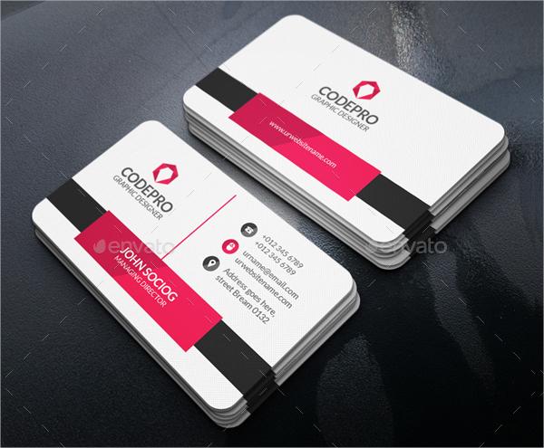 Sample Elegant Business Card