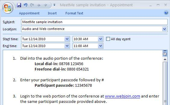 Sample Email Invitation for Meeting