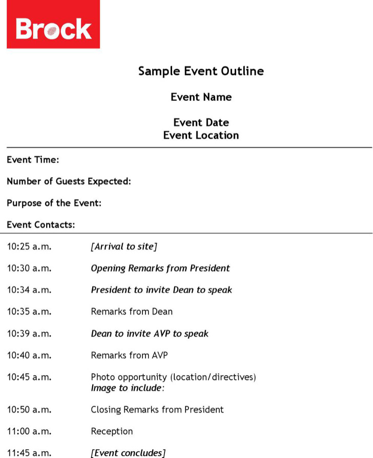 event outline templates download free premium templates forms