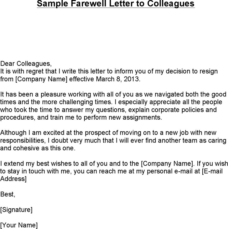 Farewell Letter. Customer-Goodbye-Letter Sample Goodbye Letter - 8 ...