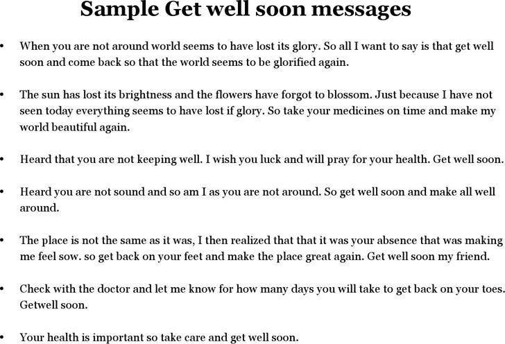 Get Well Soon Message | Download Free & Premium Templates, Forms