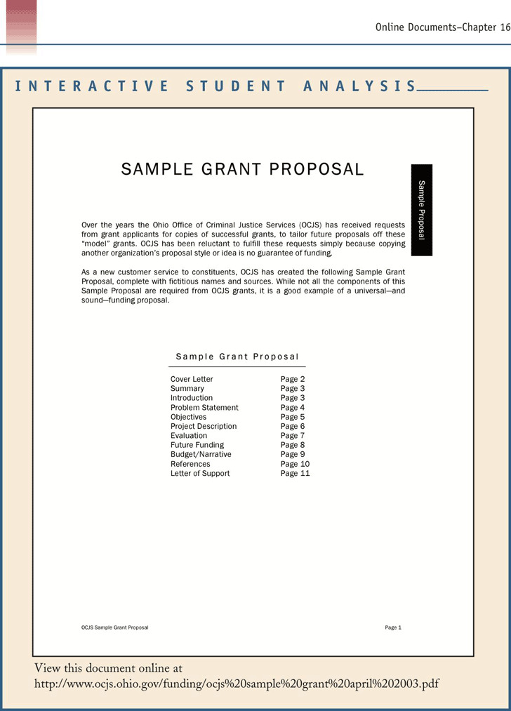 Sample Grant Proposal 1