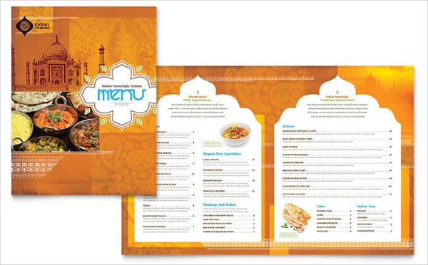 Sample Indian Restaurant Menu Template