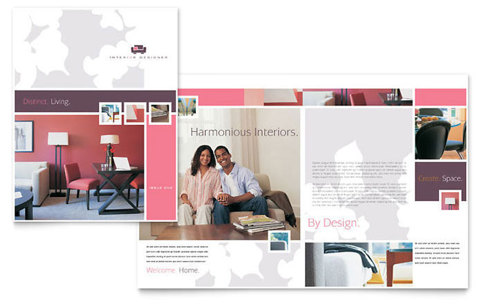 Sample Interior Designer Tri Fold Brochure Template