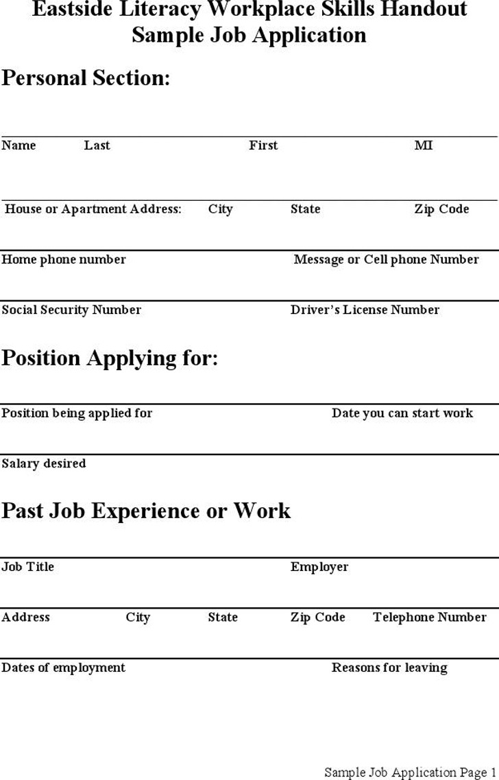 burger kind job application form paper