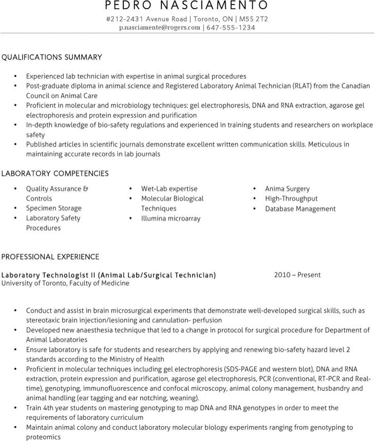 lab technician resume templates free premium