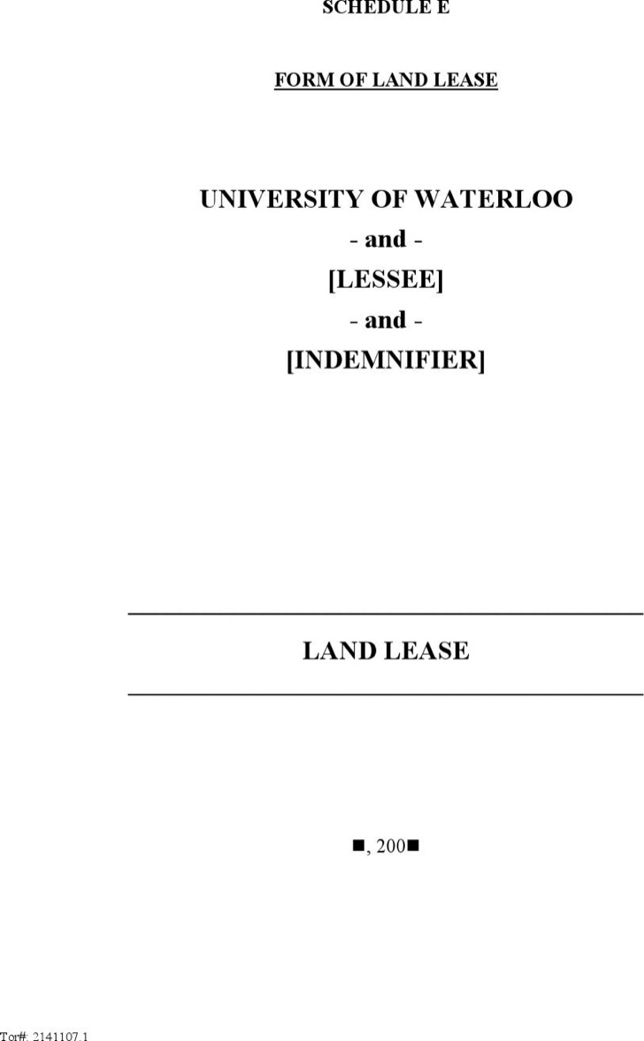 Sample Land Lease Templates – Lease Templates