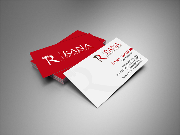 Sample Law Business Card Template