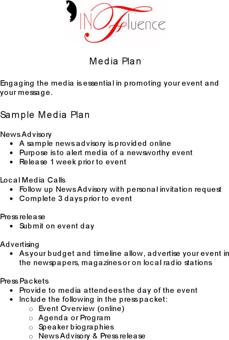 Sample Media Plan Template