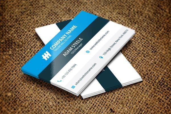 Sample Modern Corporate Business Card Template