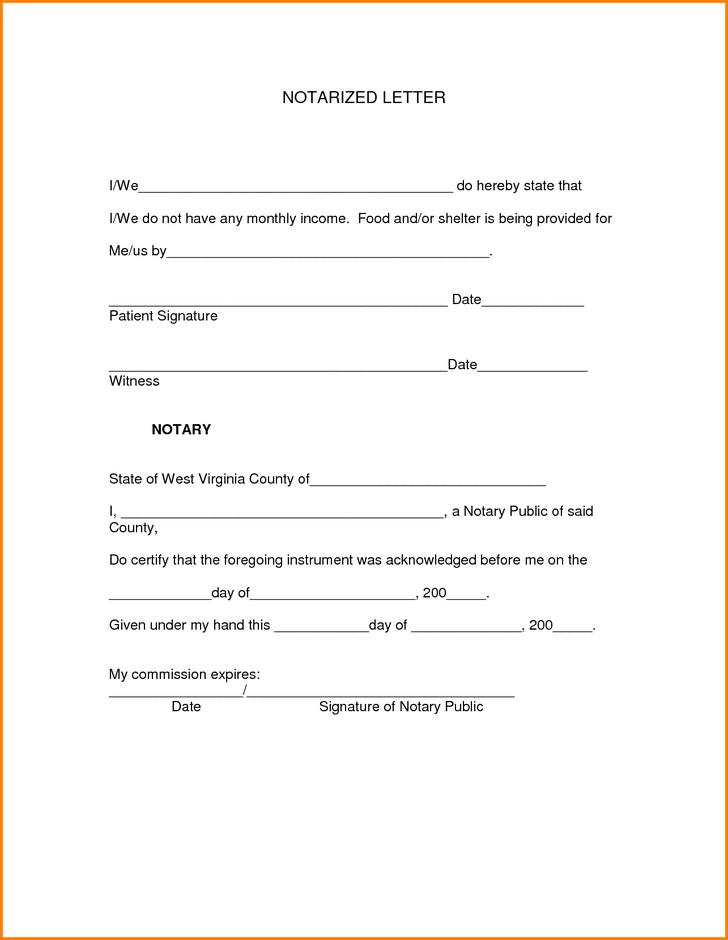 Notarized Letter Template Download Free Amp Premium