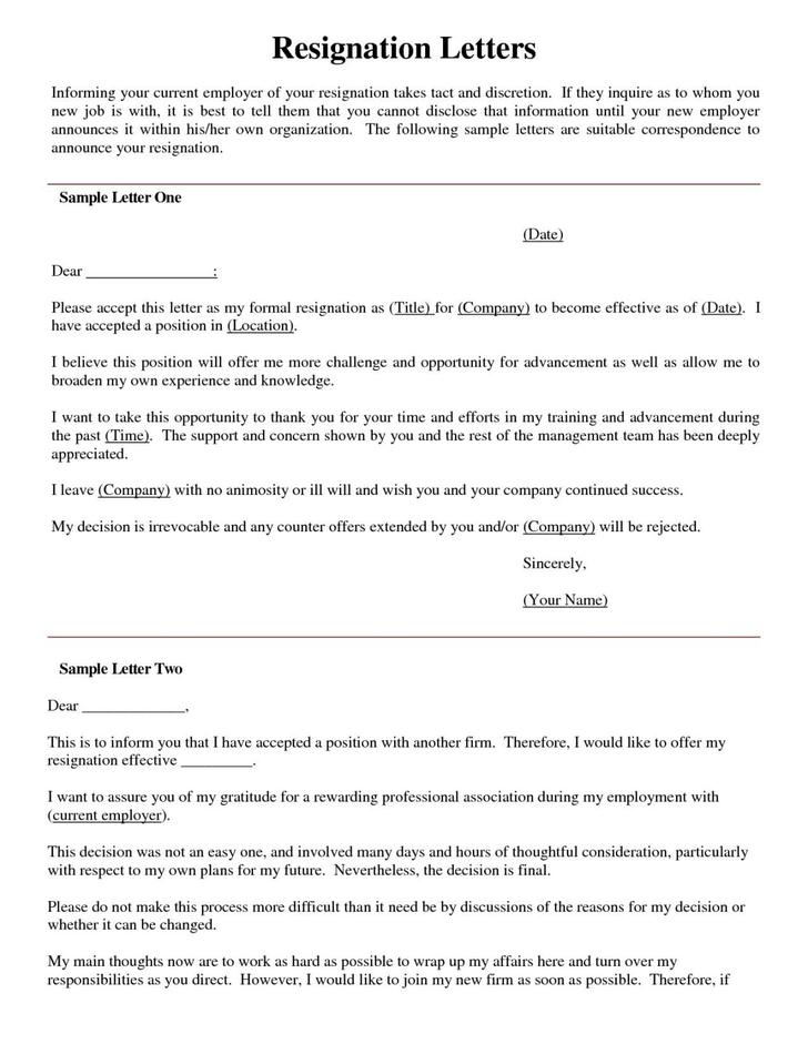 Resignation Letter Templates | Download Free & Premium Templates