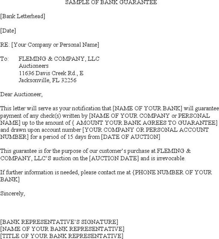Sample of Bank Guarantee