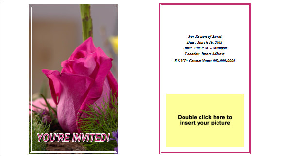 Sample Party Invitation Template DOC