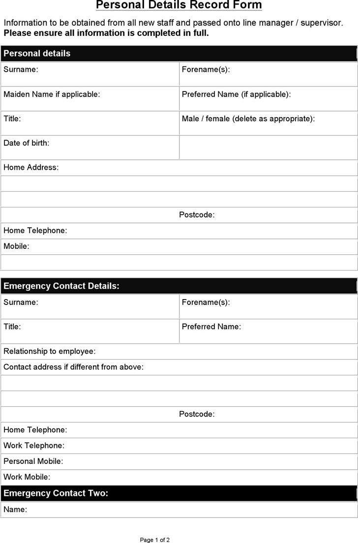 emergency contact form download free premium templates forms samples for jpeg png pdf. Black Bedroom Furniture Sets. Home Design Ideas